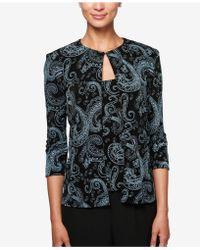Alex Evenings | Glitter Paisley-print Jacket & Shell | Lyst