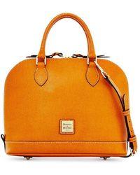 Dooney & Bourke - Saffiano Leather Zip Zip Satchel - Lyst