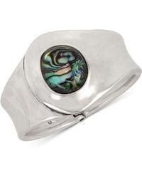 Robert Lee Morris - Silver-tone Stone Cuff Bracelet - Lyst