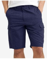 Lyst - Kenneth Cole Straight Fit Cotton Shorts in Blue for Men 198f8095e