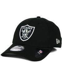 bf88d4af KTZ 39thirty Nfl Black Coll Oakland Raiders Cap Black in Black for Men -  Lyst