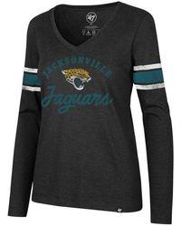 a46c9758 47 Brand - Jacksonville Jaguars Spirit Script Long Sleeve T-shirt - Lyst
