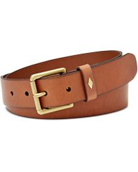 Fossil - Diamond Keeper Leather Belt - Lyst