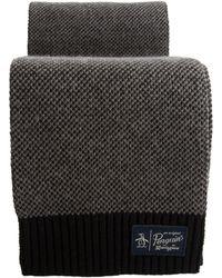 Original Penguin - Birdseye Knit Scarf - Lyst
