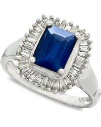 Effy Collection - Sapphire (1-5/8 Ct. T.w.) And Diamond (5/8 Ct. T.w.) Ring In 14k White Gold - Lyst