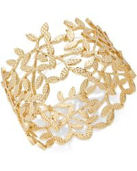 INC International Concepts - I.n.c. Gold-tone Leaf Stretch Bracelet, Created For Macy's - Lyst