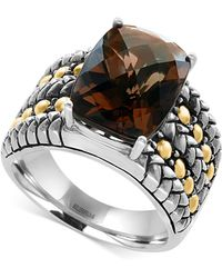 Effy Collection - Smokey Quartz Statement Ring (6 Ct. T.w.) In Sterling Silver And 18k Gold - Lyst