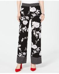 INC International Concepts - I.n.c. Petite Woven Printed Wide Leg Pants, Created For Macy's - Lyst