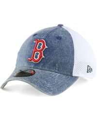 detailed look 740c4 7d744 KTZ Boston Red Sox Black And White Classic 39thirty Cap in Black for Men -  Lyst