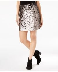1.STATE - Sequinned Mini Skirt - Lyst