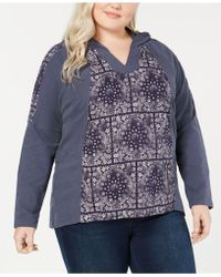 Style & Co. - Plus Size Cotton Waffle-knit Hoodie Sweatshirt, Created For Macy's - Lyst
