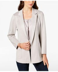 Charter Club - Petite Faux-suede Blazer, Created For Macy's - Lyst