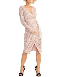RACHEL Rachel Roy - Silvia Pleated Faux-wrap Dress - Lyst