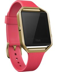 Fitbit | Women's Blaze Pink Elastomer Strap Fitness Watch 40mm Fb502gpkl | Lyst