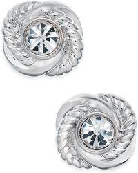 Kate Spade - Infinity & Beyond Crystal Knot Stud Earrings - Lyst