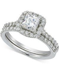 Macy's - Diamond Bridal Set (1-3/8 Ct. T.w.) In 14k White Gold - Lyst