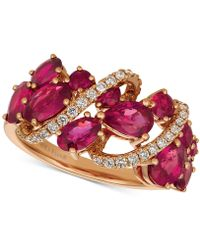 Le Vian - Passion Rubytm (2-5/8 Ct. T.w.) & Diamond (1/5 Ct. T.w.) Ring In 14k Rose Gold - Lyst