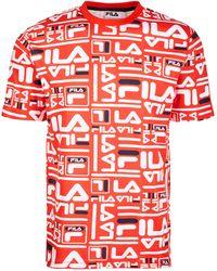 Fila - Charlie Logo-print T-shirt - Lyst