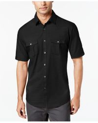 Alfani - Warren Solid Textured Shirt - Lyst