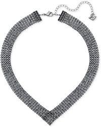 Swarovski | Silver-tone Jet Crystal Collar Necklace | Lyst