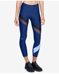 Under Armour - Heatgear® Colorblocked Mesh-inset Ankle Leggings - Lyst