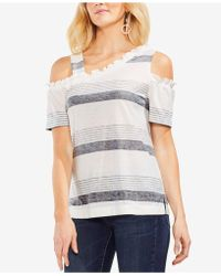 Vince Camuto - Asymmetrical Cold-shoulder T-shirt - Lyst