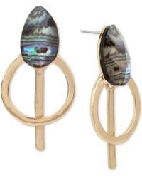 Robert Lee Morris | Gold-tone Abalone Stone Drop Earrings | Lyst