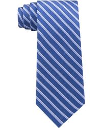 Michael Kors - Premium Light Stripe Slim Silk Tie - Lyst