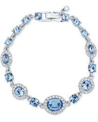 Givenchy - Silver-tone Pavé & Blue Stone Flex Bracelet - Lyst