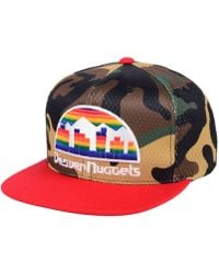 e6015c79931 Mitchell   Ness - Denver Nuggets Woodland Camo Hook Snapback Cap - Lyst