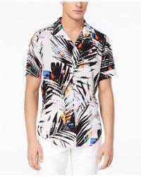 Guess - Paint Splatter Palm Shirt - Lyst