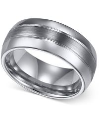 Triton - Men's Ring, 8mm Classic Tungsten 3-row Wedding Band - Lyst