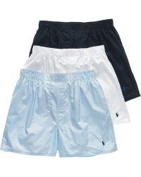 Polo Ralph Lauren - Underwear, Woven Boxer 3 Pack - Lyst