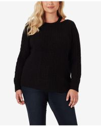 e8ae957af0c Lyst - Jessica Simpson Trendy Plus Size Posy Cold-shoulder Sweater ...