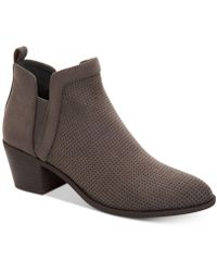 Style & Co. - Myrrah Perforated Ankle Booties, Created For Macy's - Lyst