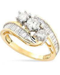 Macy's - Diamond Bypass Ring In 14k Gold (1-1/2 Ct. T.w.) - Lyst