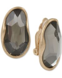 Robert Lee Morris - Gold-tone Stone Clip-on Drop Earrings - Lyst