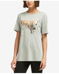 DKNY - Metallic Logo T-shirt, Created For Macy's - Lyst