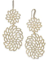 INC International Concepts - I.n.c. Gold-tone Crystal Openwork Flower Drop Earrings, Created For Macy's - Lyst