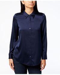 Eileen Fisher - Point-collar Shirt, Regular & Petite - Lyst