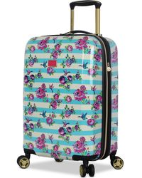 """Betsey Johnson - Hummingbird 20"""" Hardside Expandable Carry-on Spinner Suitcase - Lyst"""