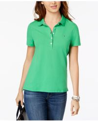 f6832fd60 Tommy Hilfiger Relaxed Fit Polo Shirt in Pink - Lyst