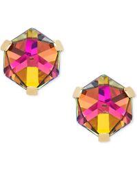 Macy's - Zirconia Vitrail Crystal Stud Earrings In 14k Gold - Lyst