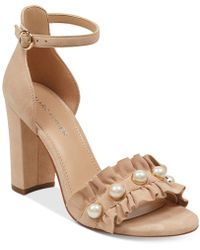 Marc Fisher - King Pearl Ruffle Two-piece Sandals - Lyst