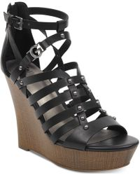 G by Guess - Dezzi Wedge Sandals - Lyst