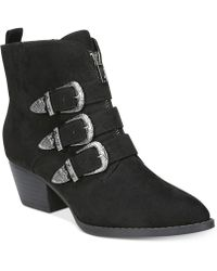 Carlos By Carlos Santana - Vance Round Toe Canvas Ankle Boot - Lyst