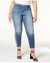 ec45e75eac2 INC International Concepts - I.n.c. Plus Size Side-stripe Skinny Jeans