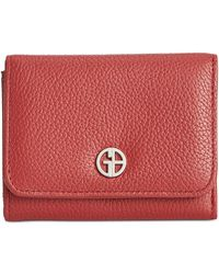 Giani Bernini - Softy Leather Mini Trifold Wallet - Lyst