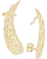 Macy's - Cutout Angel Wing Crawler Earrings In 14k Gold, 1 1/2 Inch - Lyst
