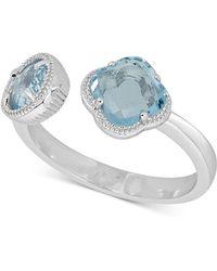 Macy's - Sky Blue Topaz Cuff Ring (1-9/10 Ct. T.w.) In Sterling Silver - Lyst